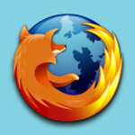 Firefox icon with Apmato background